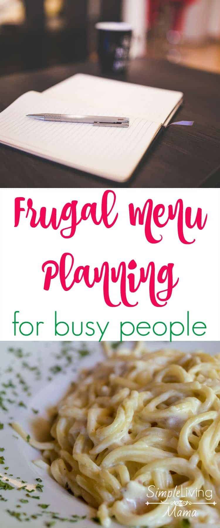 Frugal menu planning