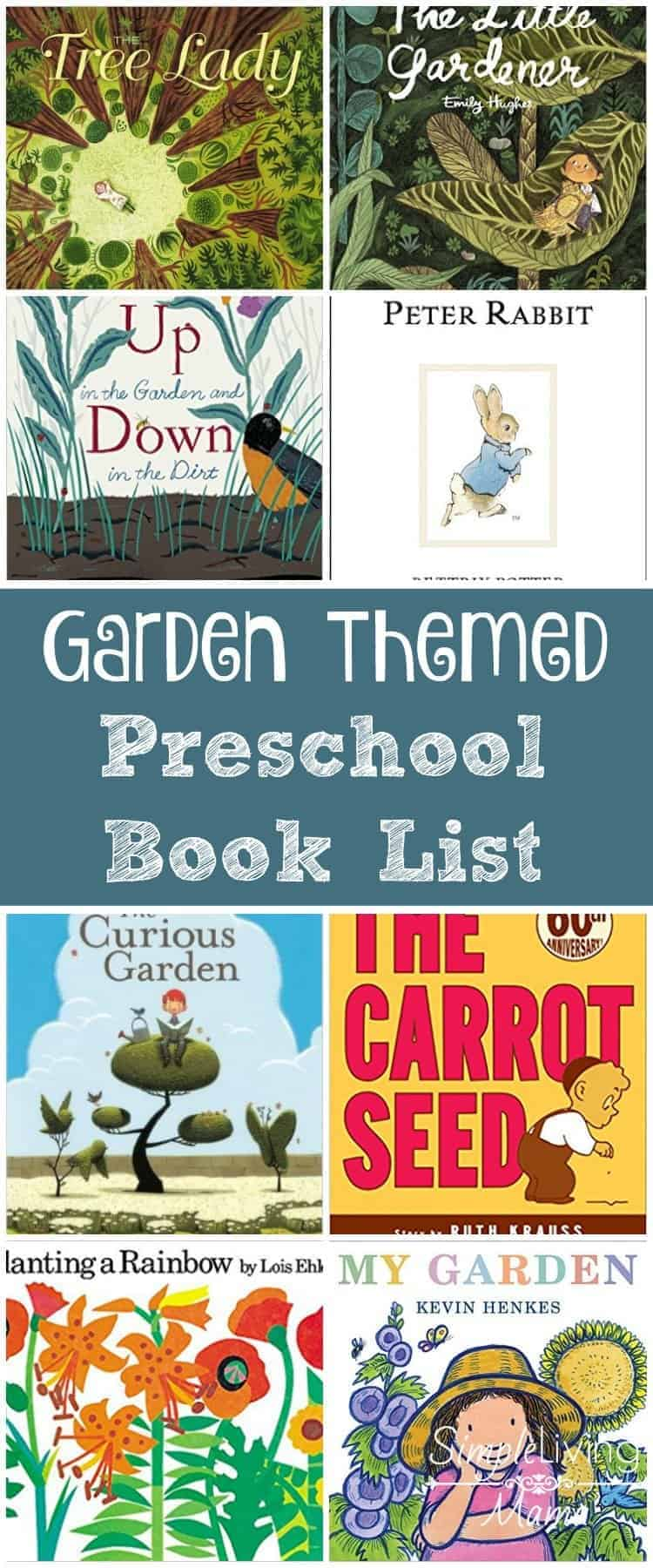 Garden themed preschool book list