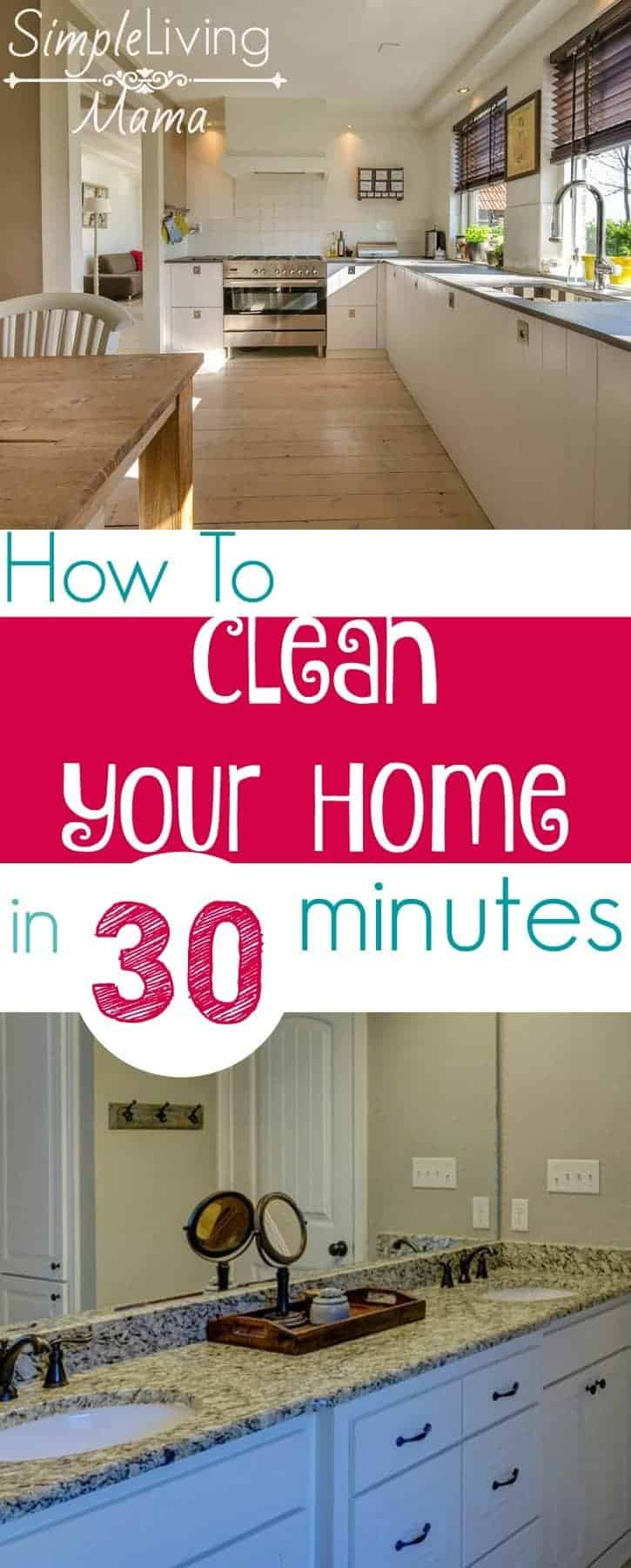 How to clean your home in 30 minutes