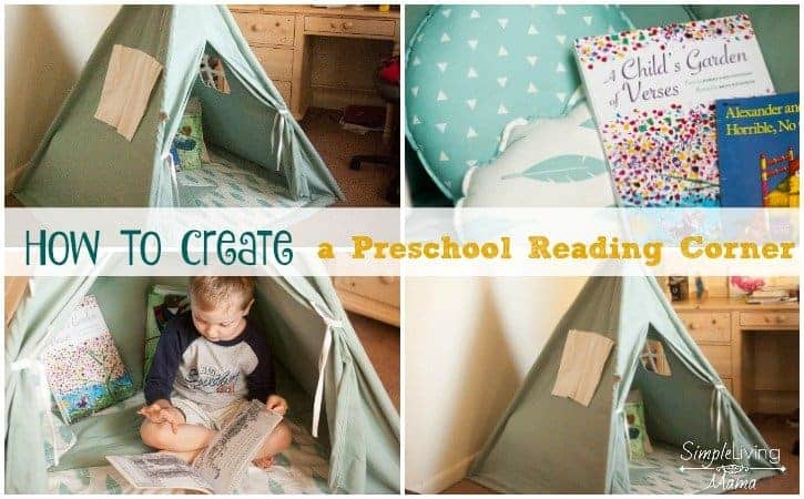 How To Create a Preschool Reading Corner At Home