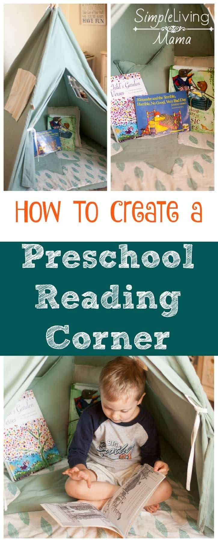 how to create a preschool reading corner