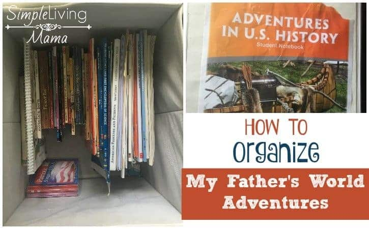 How to organize My Father's World Adventures easily