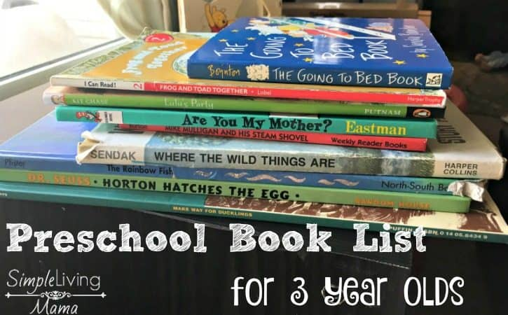 Preschool Book List for 3 Year Olds