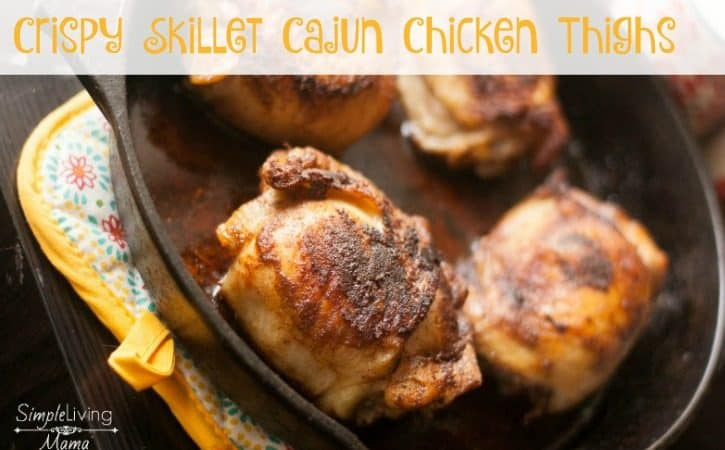 Skillet Cajun Chicken Thighs Recipe