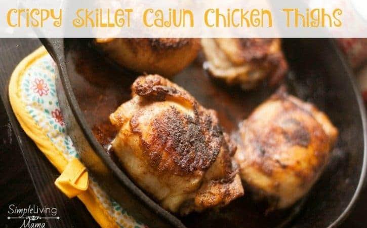 crispy skillet cajun chicken thighs