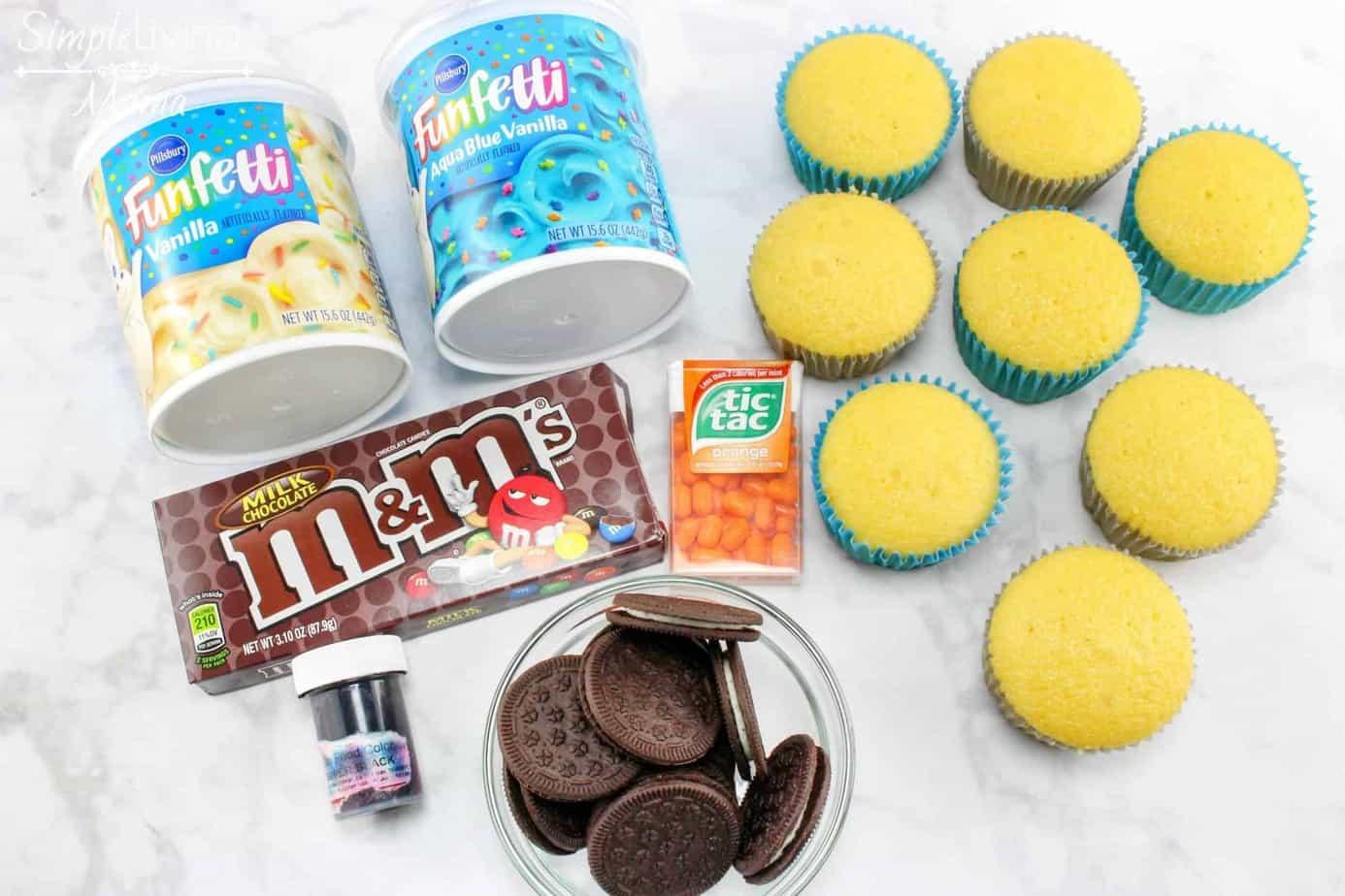 DIY Owl Cupcakes ingredients