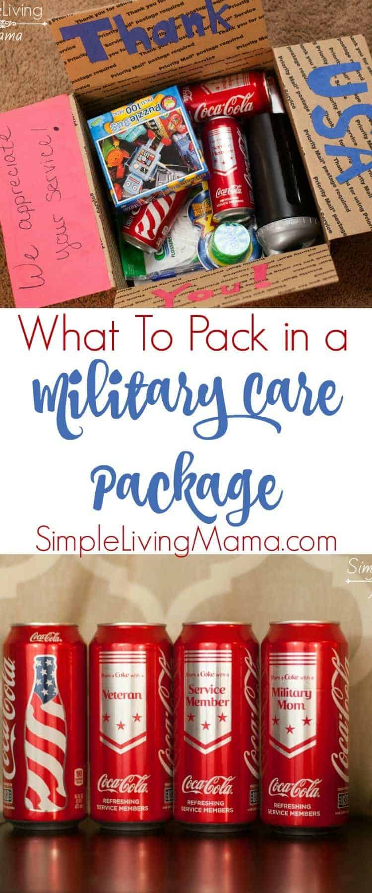 What to pack in a military care package.