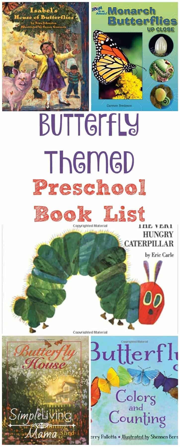 Butterfly themed preschool book list