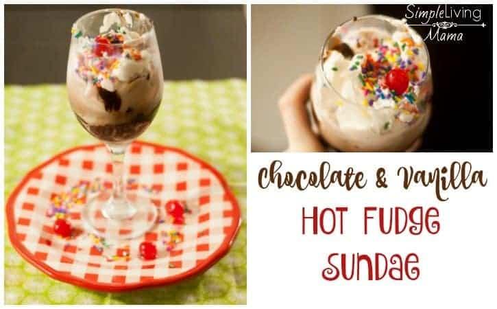 Hot Fudge Sauce Recipe with Chocolate and Vanilla Ice Cream
