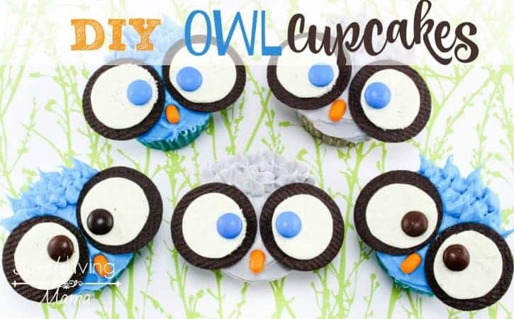 DIY Owl Cupcakes are a fun and easy treat to make with kids.