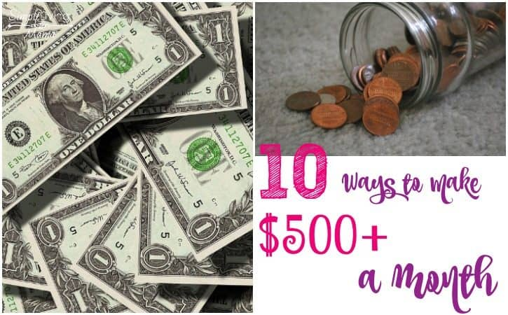 10 Ways to Make $500+ a Month