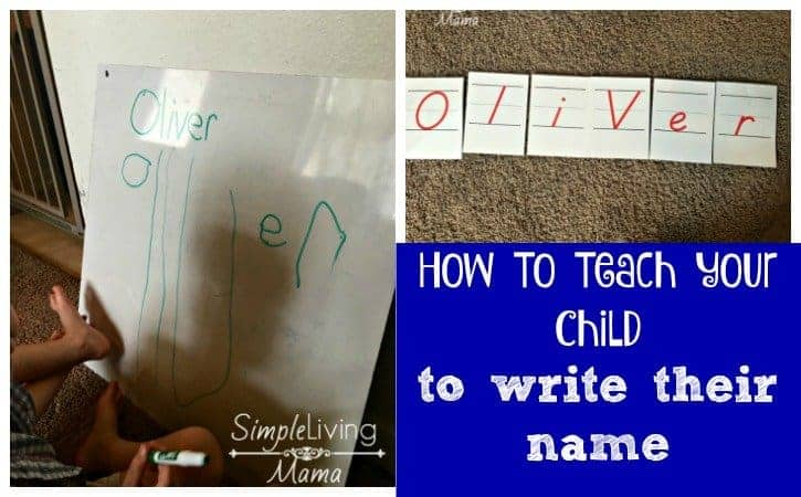 how to teach name writing