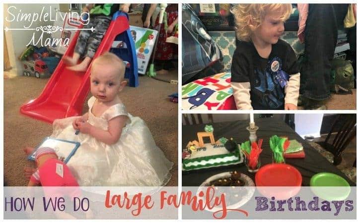 large family birthdays