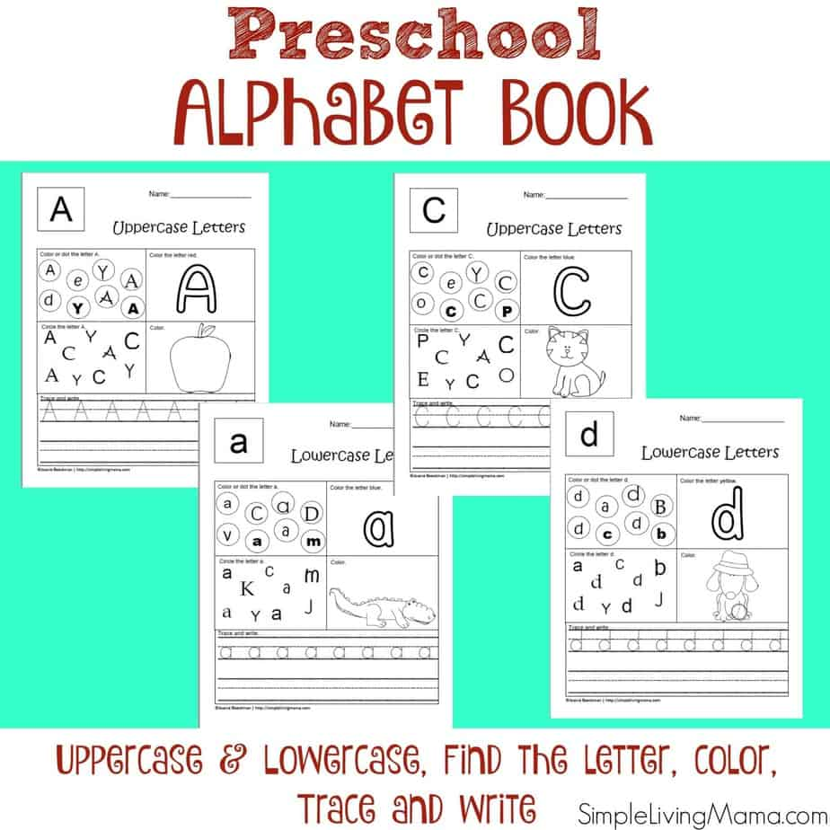 Preschool Alphabet Book printables