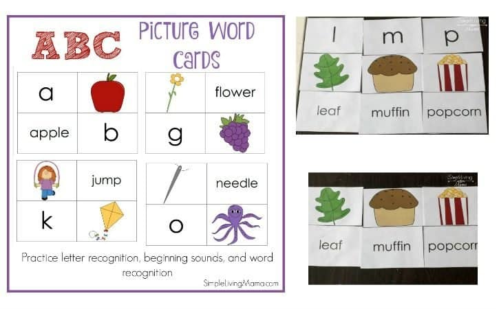 ABC Picture Word Cards + How To Use Them