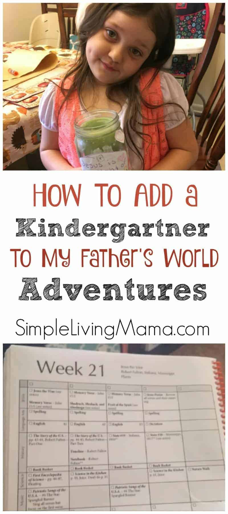 Adding a kindergartner to mfw adventures