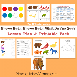 Brown Bear, Brown Bear What Do You See lesson plans and printables for preschool and Kindergarten.