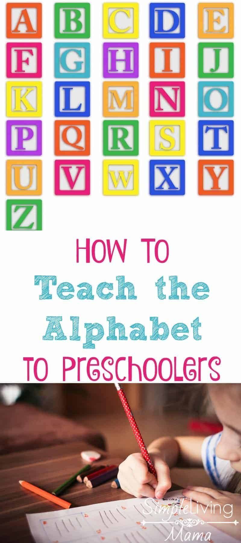 How to teach the alphabet to preschoolers in a fun and engaging way!