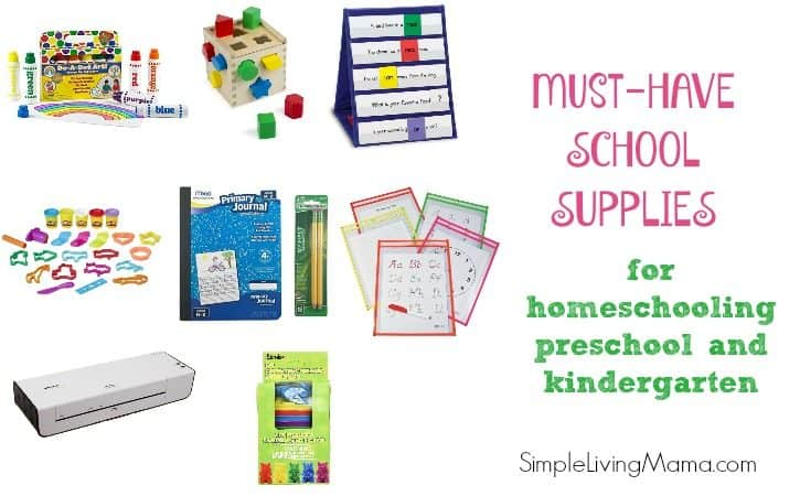 Must-Have School Supplies for Homeschooling Preschool and Kindergarten