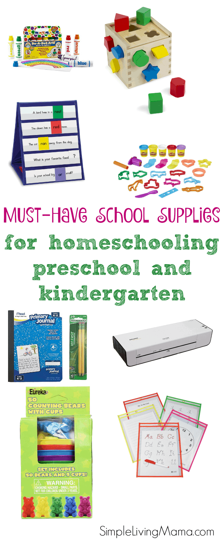 These must-have school supplies for homeschooling preschool and kindergarten come in handy when teaching your child!