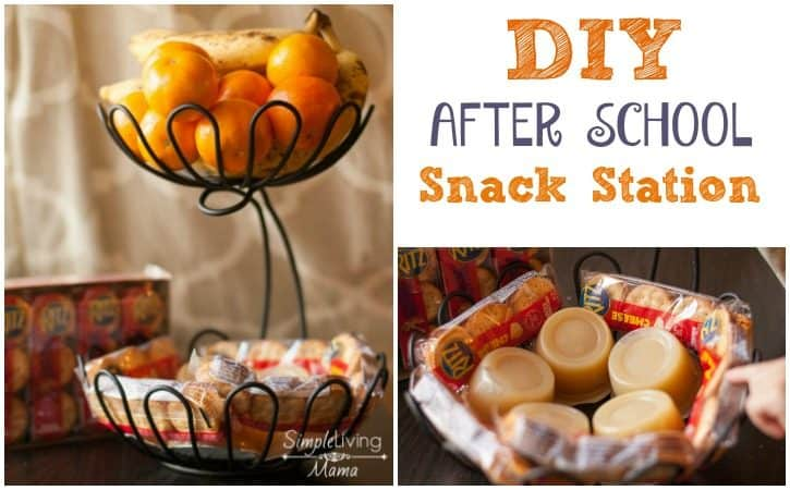 DIY After School Snack Station + Easy Snack List