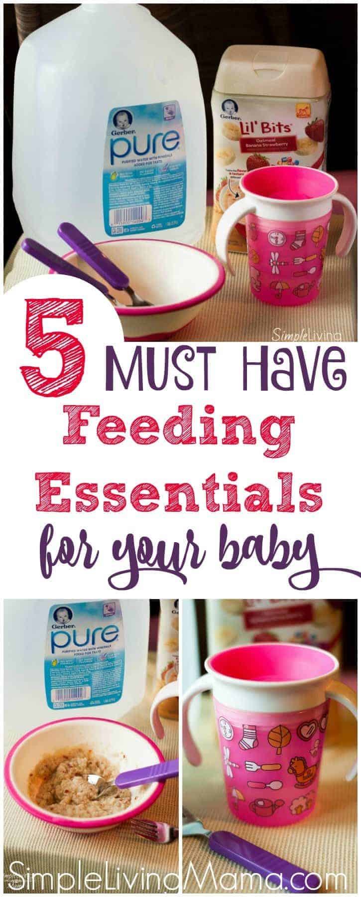 These 5 must have feeding essentials for your new baby will help make the transition to solids a little easier!