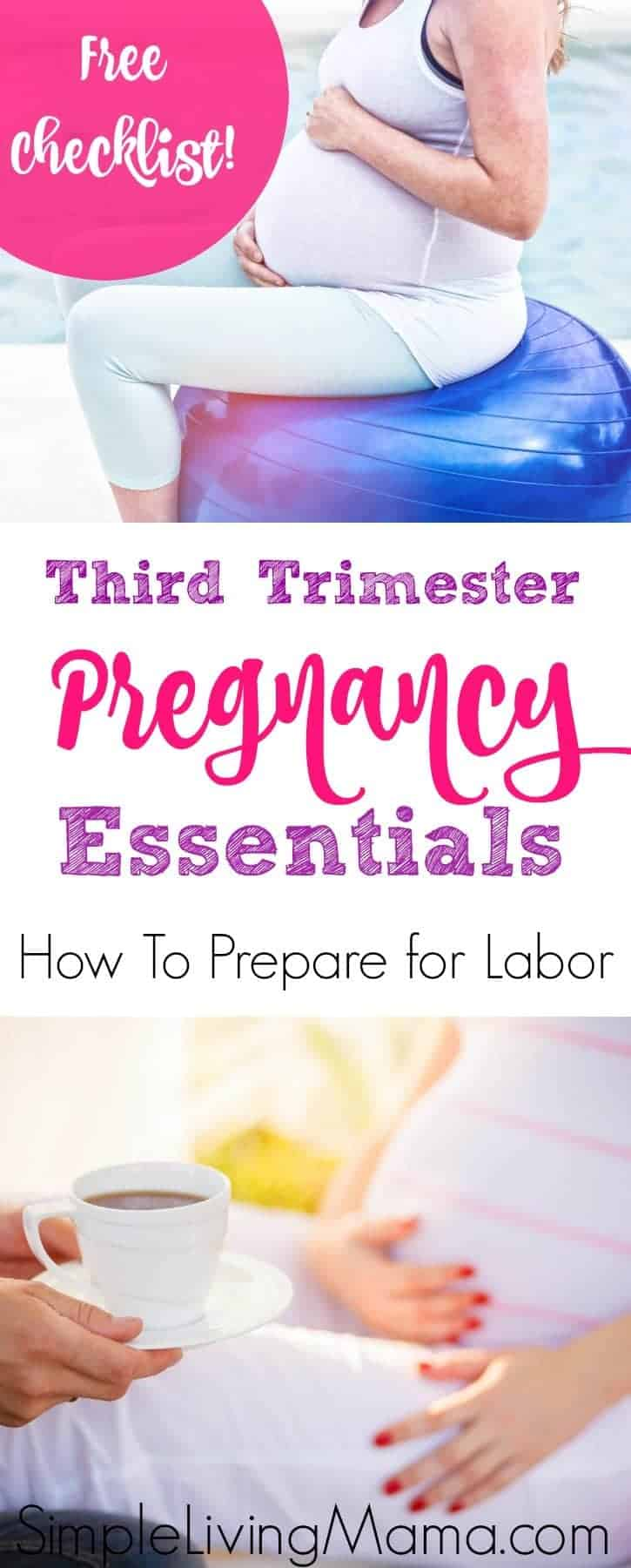 Third trimester pregnancy essentials. Learn how to prepare for labor and what products can help!
