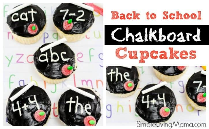 DIY Chalkboard Cupcakes – Back to School Treats