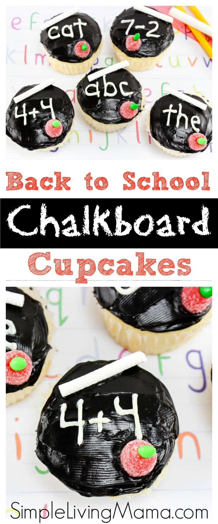 These back to school chalkboard cupcakes are the perfect treat for your kids' first day of school!