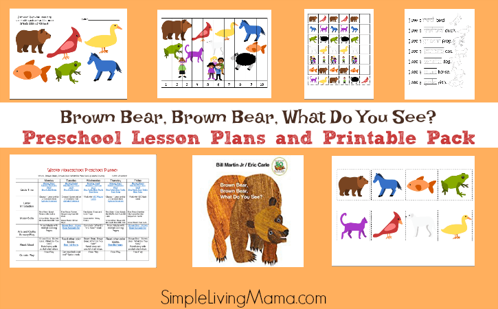 Brown Bear, Brown Bear What Do You See? Preschool Lesson Plans