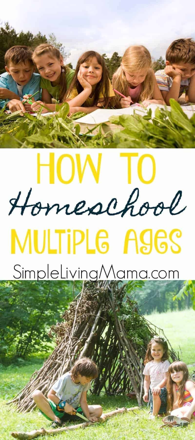 If you've ever wondered how it's possible to homeschool multiple ages, this post is for you! Learn how to teach different grade levels at the same time!
