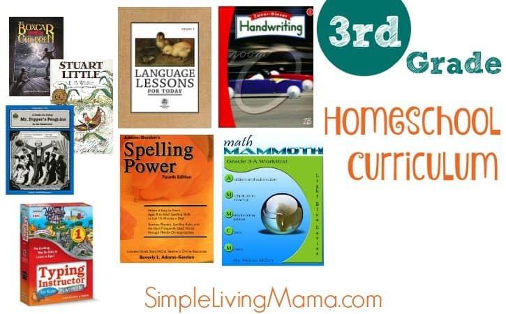Third Grade Curriculum Choices