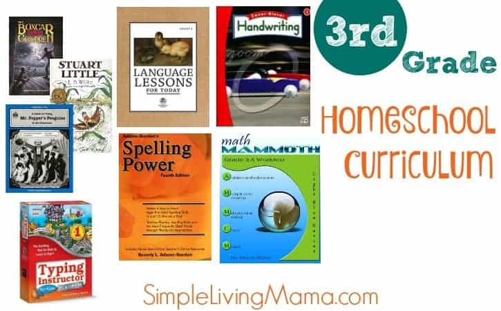 Third Grade Curriculum Choices Simple Living Mama