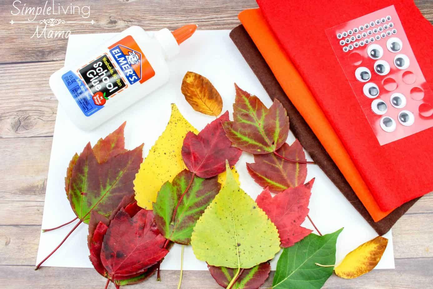 leaf turkey craft for kids simple living mama