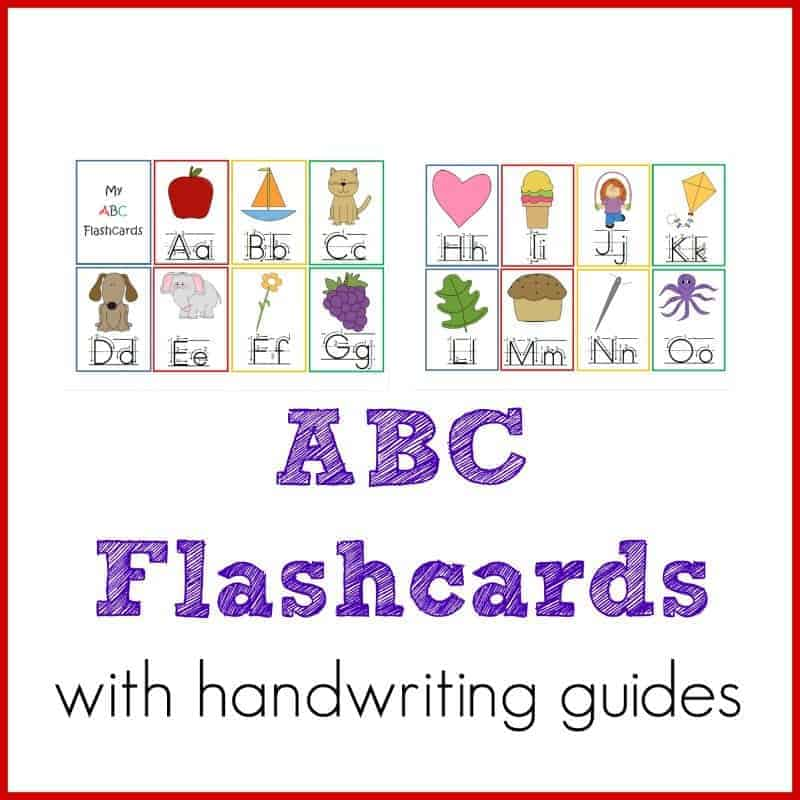 image regarding Abc Flash Cards Printable named ABC Flashcards with Handwriting Books