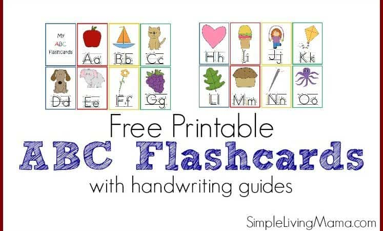 Printable ABC Flashcards for Preschoolers