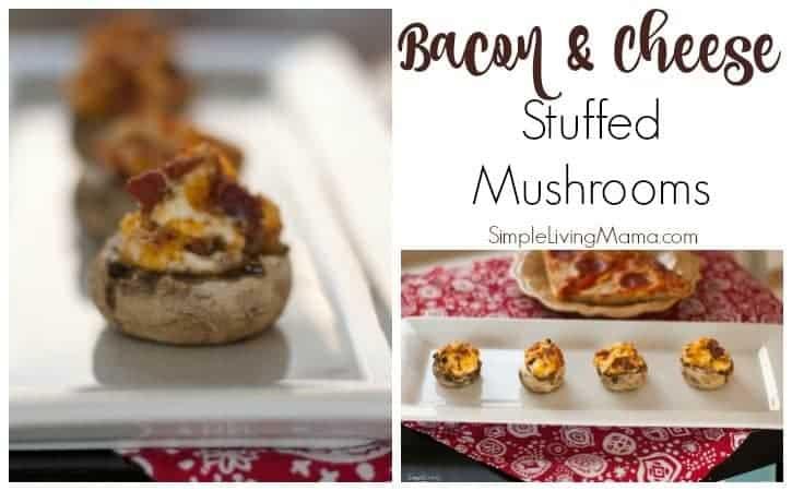 Bacon and Cheese Stuffed Mushrooms