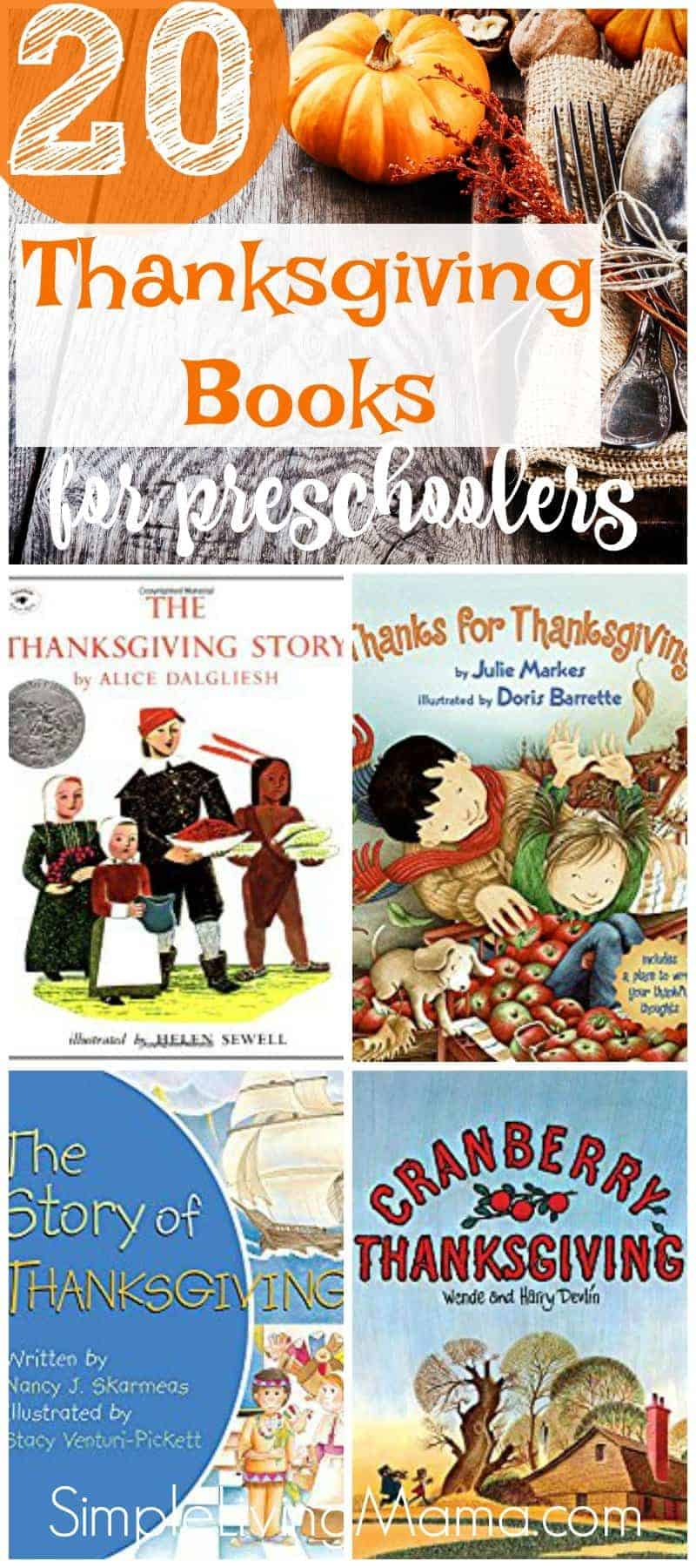 Use this Thanksgiving themed preschool book list to find a wonderful book to read to your child this Thanksgiving!