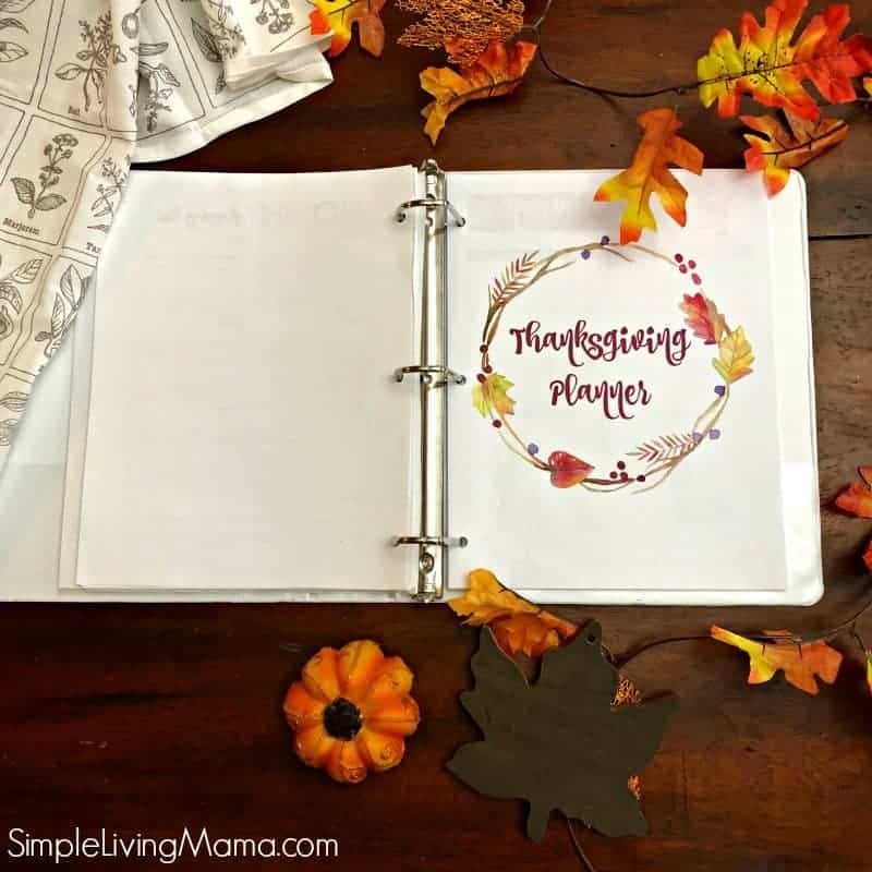 Thanksgiving planner cover