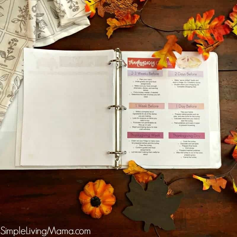 Thanksgiving printable checklist