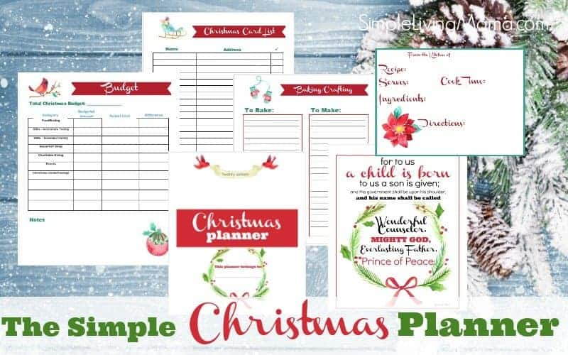 simple christmas planner banner