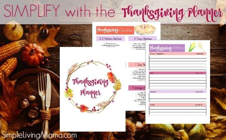 Thanksgiving Menu Planner Printables
