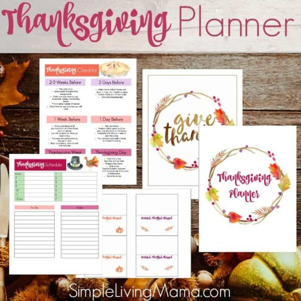 Thanksgiving planner printables to help you plan Thanksgiving dinner.