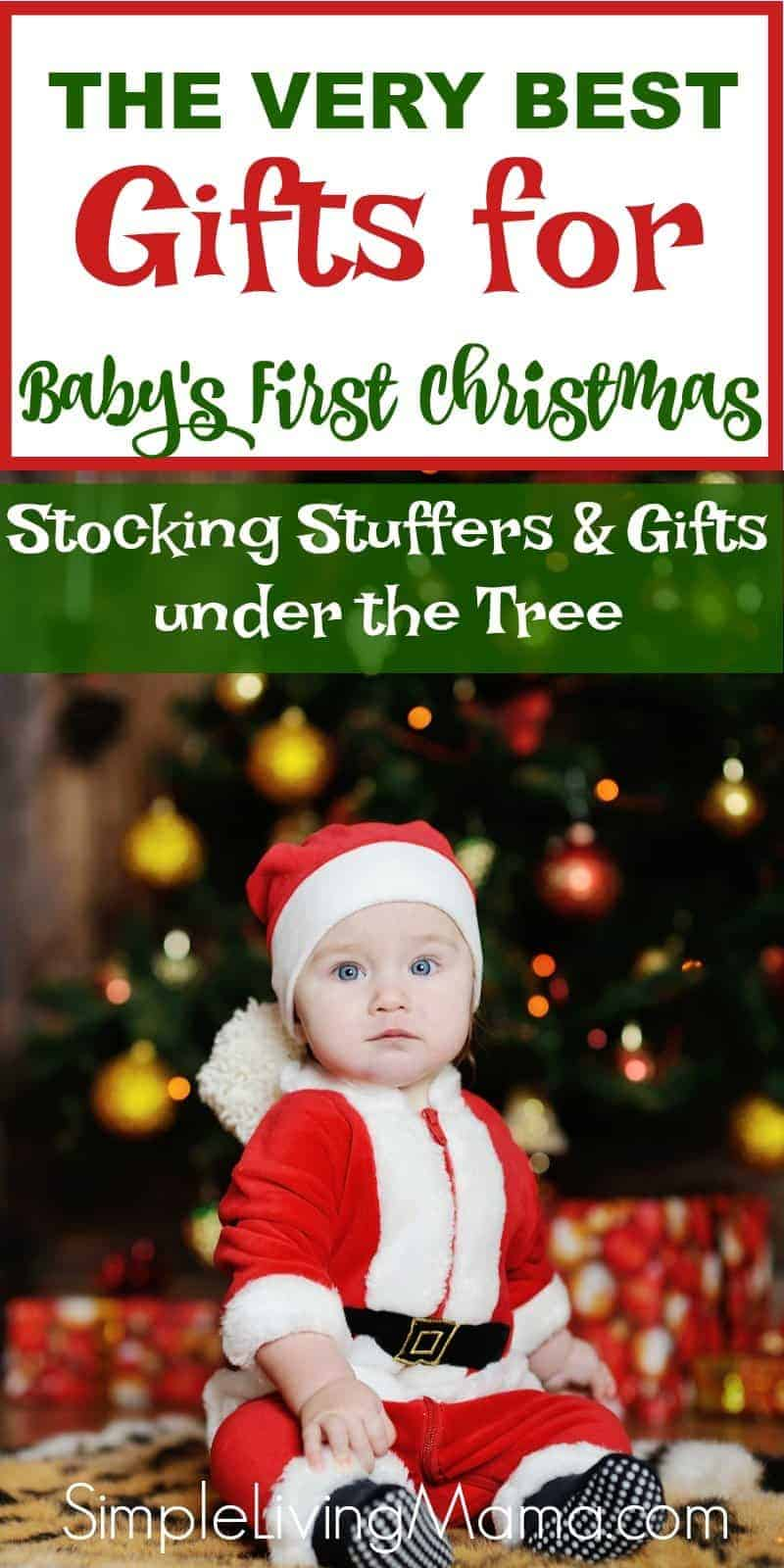 this gift guide for babys first christmas includes first christmas gifts for under the tree and