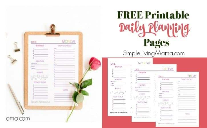 Free Printable Cute Daily Planning Sheets