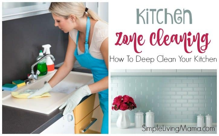 Kitchen Zone Cleaning with Free Printable Checklist