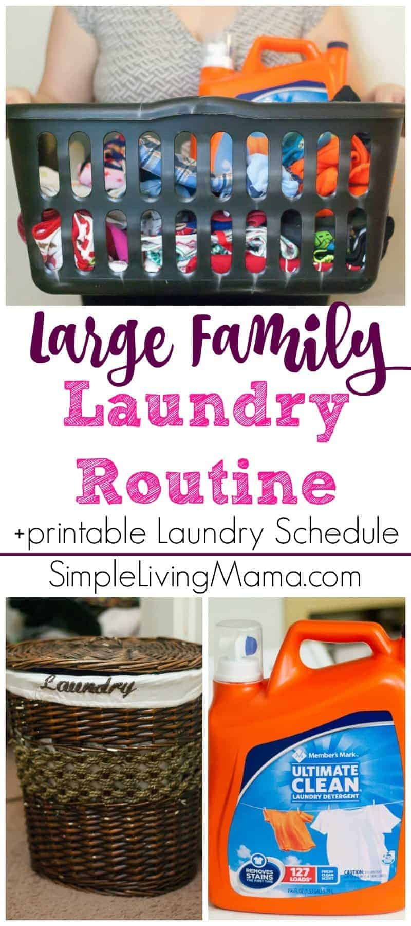 Large family laundry routine printable laundry schedule for Large family laundry