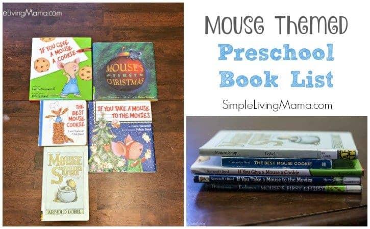 Mouse Themed Preschool Book List