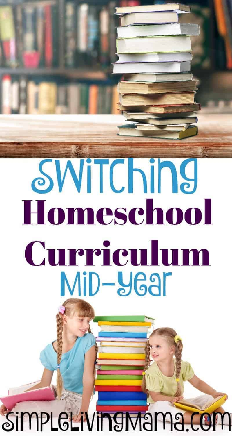 Switching homeschool curriculum mid-year doesn't have to be a hassle. These tips for changing homeschool curriculum show you how to do it.