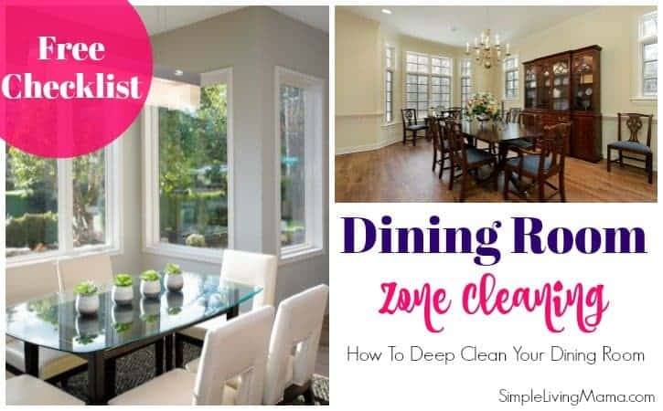 Dining Room Zone Cleaning